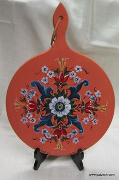 Norwegian Rosemaling -- Bread board