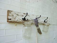 barnwood Antique Cottage Coat Rack