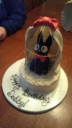 Jiji cake from Kiki's Delivery Service! Studio Ghibli
