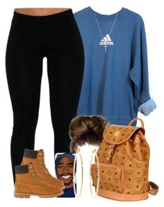 """""""They say people from NYC love timbs.. I agree with them lmaoo """" by livelifefreelyy ❤ liked on Polyvore featuring adidas, Timberland, MCM, Brooks Brothers and Gucci"""