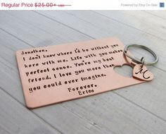 Copper wallet insert with monogrammed by BrandiAlewineDesigns