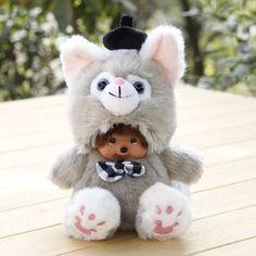 Stuffed Monchichi Constellation 20cm Plush Toys Doll Monkiki Bag Pendant Car Charm  Kiki Children Toy Kids Gift Monchhichi M188f
