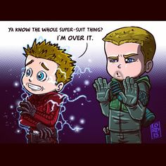 Roy's definitely over the whole super-suit thing! :D #FanArtFriday #Arrow #lordmesaart