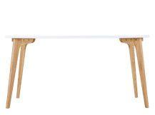 Fjord tavolo rettangolare, rovere e bianco