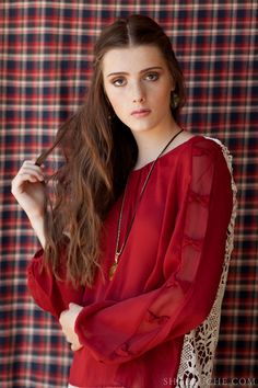 Cranberry red and lace, a perfect partnership. #equestrian #ruche #shopruche
