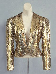 Sequined tulle evening jacket, c.1940.