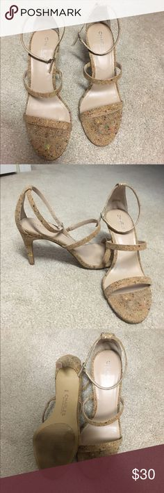 Charles by Charles David Strappy Cork Heels Excellent condition! Colorful rainbow cork. 3 inch heels. Adjustable ankle strap. Super comfortable. Worn once. Will ship with original box. Charles by Charles David Shoes Heels