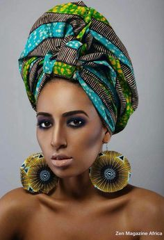 The Beauty of the African Head wrap By Princess Amayo ~African fashion, Ankara… African Dresses For Women, African Wear, African Women, African Hats, African Style, African Inspired Fashion, African Fashion, Style Turban, African Head Wraps