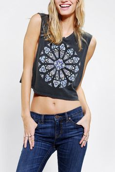 Could do this with any tee....make into a cute cropped muscle tee!