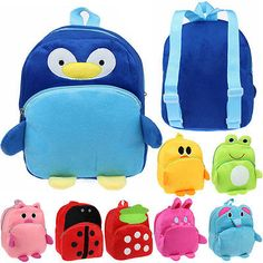 Infantil Felpa Suave Juguete Animal Mochila Escolar Cartoon Cute Mochila
