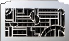Classic Grills Art Deco Aluminum Return Air Grille.  Find this in a variety of sizes and colors on out website: floorregisterresources.com