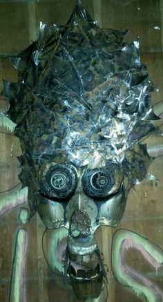 #steampunk #love #pain #halloween #voodoo #WitchDoctor #magic #poe #skull #face #mask #head #brain #real #selfmade #tattoo #gun #glock #ruger #savage #skeleton #weldporn #brutalist #sculpture #slipknot #eminem #deftones #korn #art #MetalArt #playstation #xbox