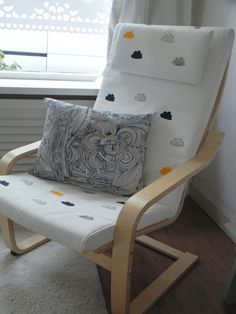 Great idea... we have this chair in Mac's room and it would look super cute with sport stamps to match his room