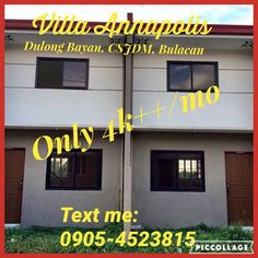 MURANG BAHAY AT LUPA  4k++/month ONLY!!  Villa Annapolis Subdivision  Dulong Bayan San Jose Del Monte City Bulacan  VILLA ANNAPOLIS is a horizontal economic housing project in an 8hectare property in the City of San Jose del Monte, Bulacan. The subdivision will be the home to at least 1,000 families living together in an eco-friendly and secured community.  Amenities:  ~Entrance Gate w/ guardhouse ~Water System (San Jose Water District) ~Power Supply (Meralco) ~Parks and playground…