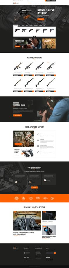 Honor – Shooting Club & Weapon Store Theme will perfectly fit an online weapon shop, shooting school, gun classes, shooting range or firearm training website.  Honor is also focused on selling shooting guns, and accessories and is a WooCommerce based theme which makes it a splendid choice for your store of firearms, hunting equipment and military accessories.