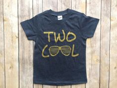 Two years old birthday shirt, Two cool, 2nd birthday tshirt, boys tshirt, boys birthday shirt, navy and gold by SouthernSugarCompany on Etsy https://www.etsy.com/listing/510268735/two-years-old-birthday-shirt-two-cool