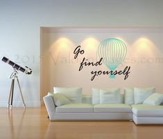 Travel quote wall decal motivational wall decal by ValdonImages #travel…