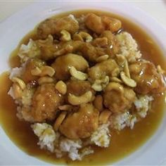 Springfield Style Cashew Chicken II Allrecipes.com This is one of my family's favorite recipes.  It's a little time consuming to make, but well worth it!!
