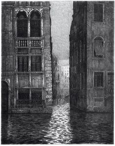 Mikael Kihlman, Venezia IV, drypoint, 36 x 28 cm, 1989