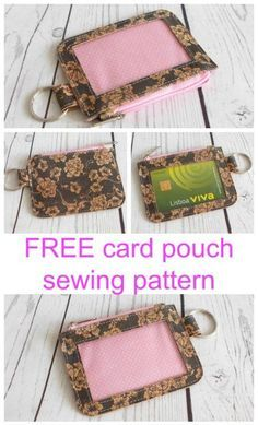 Card It Card Pouch FREE pattern - Sew Modern Bags - FREE coin purse sewing pattern. Super cute, super easy, super useful, I carry this little wallet ev - Sewing Hacks, Sewing Tutorials, Sewing Crafts, Sewing Tips, Bag Tutorials, Sewing Ideas, Diy Crafts, Free Sewing, Vintage Sewing Patterns