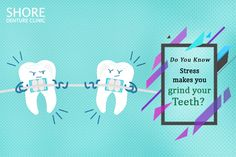 Did You Know that stress causes you to grind your teeth hard at night? It causes headaches and jaw-pain, with eventual corrosion of teeth. Jaw Pain, Stress Causes, Dental Implants, Your Smile, 20 Years, Did You Know, Clinic, Teeth, Make It Yourself