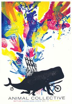 Little Jacket. Animal Collective. Like the band, love the poster.