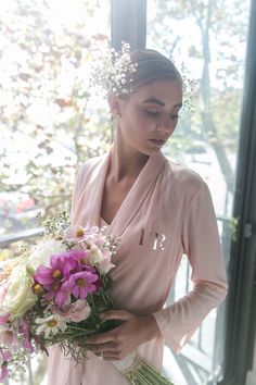Cara Short Bridal Robe in Blush Pink Bridal Robes, Big Day, Blush Pink, In This Moment, Pockets, Tie, Phone, Natural, Fall