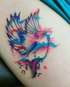 #cardinal #cardinals #tattoo #tattoos #tattooed #watercolor #watercolortattoo #bird #music #birdmusic #tattoobird #cardinaltattoo #birdtattoo #birdwatercolor #tattoocolor #girlswhittattoos by tonytrotamundos