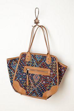 Diamond Tapestry Shoulder Bag