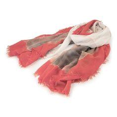 SCIARPA ALCHIMIA CORALLO - Morbida sciarpa stampata color corallo in tessuto tie and dye.