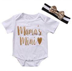 Fashion Baby Girl Boy Romper Mama's Mini Jumpsuit ShortSleeve Clothes Boys Girls Clothing Cotton Costume #Affiliate