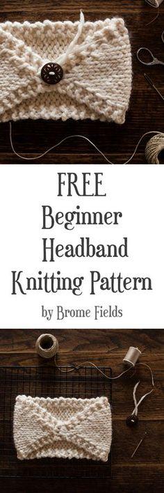 FREE Beginner Headband Knitting Pattern : Perfectly Imperfect : Brome Fields – Knitting patterns, knitting designs, knitting for beginners. Beginner Knitting Patterns, Easy Knitting, Knitting For Beginners, Loom Knitting, Knitting Projects, Crochet Patterns, Sewing Projects, Hat Patterns, Start Knitting