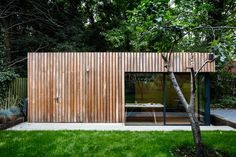 stunning garden office with bike shed was built for a freelance photographer who required office space plus ample storage for all his kit. Shed Conversion Ideas, Casas Club, Shed Office, Small Garden Office, Garage Office, Shed Of The Year, Home And Garden Store, Garden Workshops, Casas Containers