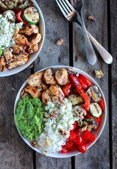 California Chicken, Veggie, Avocado and Rice Bowls [RECIPE]