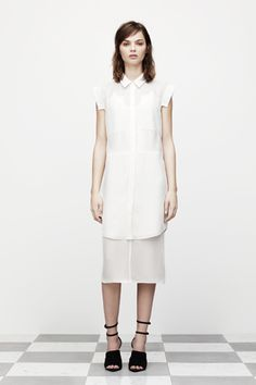 T by Alexander Wang. White-on-white perfection.