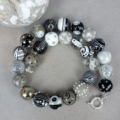 Black & White Necklace by Glasting on Etsy, $440.00