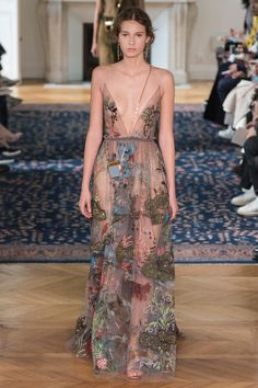 Runway Style: Valentino's Spring 16 collection is a walk thru the Garden of Earthly Delights | The Luxe Lookbook