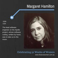 52 Weeks of Women - September - Finance Women Software Bug, Margaret Hamilton, Apollo Missions, When Things Go Wrong, 52 Weeks, Einstein, Bugs, Leadership, How To Find Out