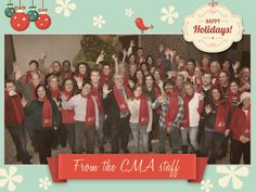 Happy Holidays from your CMA family!