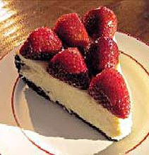 White Chocolate Cheesecake with Strawberry Topping, Amazing! Its even great without the strawberry topping! #recipe #dominopin2win