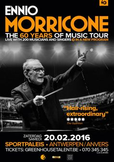 TeleTicketService › Ennio Morricone, The 60 Years Of Music Tour