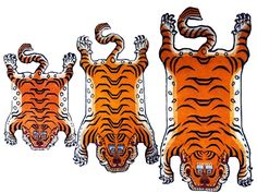 Up for listing is for a handicraft Tibetan Tiger Rug.These great looking hand-knotted woolen Tiger pelts are made by Tibetan artisans living in Nepal. This is famous tiger rug and they have also become popular as meditation seats. Tibetans believe that meditating on a tiger rug will protect the meditator from negative influences (both seen and unseen) and enhance the power of one's meditation practice. Tibetan rugs are also renowned for their quality and longevity and are avid...