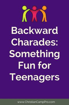 Backward Charades – Something New for Youth Groups Backward Charades is a unique take on the age old party game. Small Group Games, Fun Group Games, Youth Group Activities, Activities For Teens, Team Games, Family Games, Leadership Activities, Indoor Youth Group Games, Games For Youth Groups