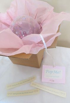 One 1 DIY Pop the Balloon kit secret message inside by Bridesmaid Request Ideas, Will You Be My Bridesmaid, Bridesmaid Proposal, Groomsmen Proposal, Bridesmaids, Mini Balloons, Balloon Box, Balloon Gift, Balloon Invitation