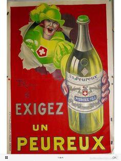 Maravilloso gran cartel affiche Peureux de año 1925 240cms x 160 cms - Foto 1