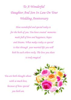 You searched for anniversary cards for friends - Invitations Templates Birthday Cards For Son, Happy Birthday Daughter, Sons Birthday, Message To Daughter, Daughter Poems, Anniversary Verses, Anniversary Message, Anniversary Congratulations, Happy Anniversary Cards