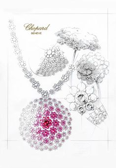 jewelry design and management international school High Jewelry, Jewelry Art, Jewelry Roll, Trendy Jewelry, Pandora Jewelry, Vintage Jewelry, Jewelry Design Drawing, Jewelry Illustration, Jewellery Sketches