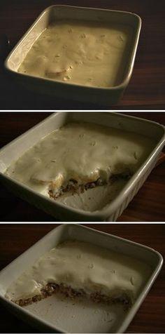 Ovesná kaše s banánem zapečená pod jogurtem (288 kcal)