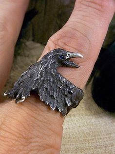 crow ring - if I were a rich gal, I'd hire someone to read that to me so I could order that ring!