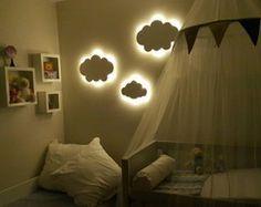 Nuvem Luminária abajur quarto de bebê Led
